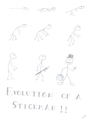 The Evolution of a Stickman!